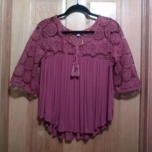 Pink Top with Lace